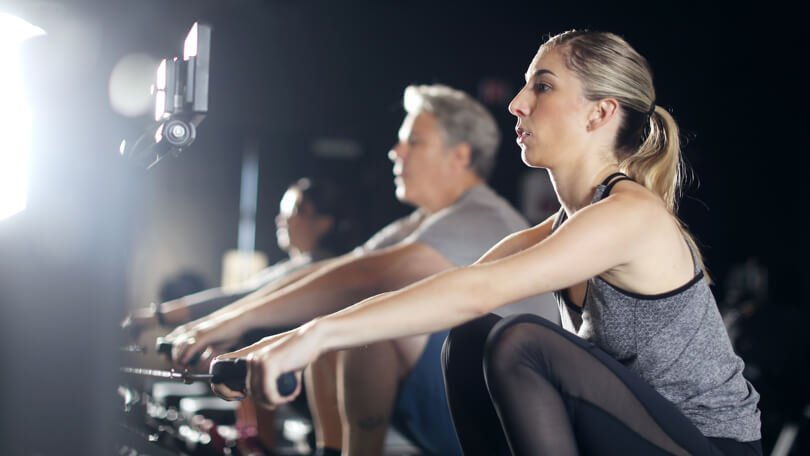 Our most popular class is a signature mix of music-driven rowing intervals and low-impact, full-body floor exercises.